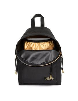 MOCHILA EASTPAK ORBIT SLEEK R GOLDOUT BLACK-GOLD